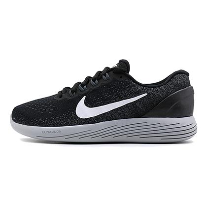 耐克NIKE 跑步鞋 LUNARGLIDE 9 登月9女款缓震跑鞋 904716-001 黑色(缓震当道,蓄力回弹)