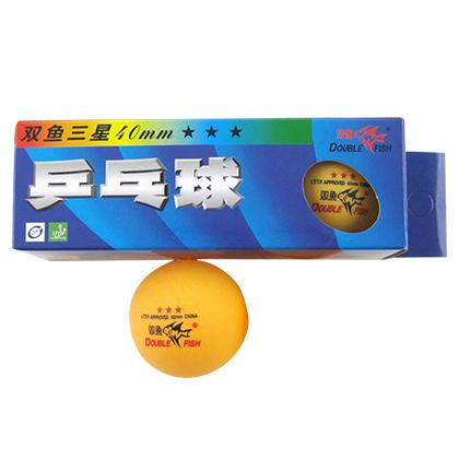 双鱼三星比赛乒乓球(3只装)