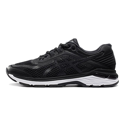 亚瑟士ASICS GT2000 6跑步鞋男款稳定慢跑鞋T805N-9001 黑色/白色(次顶级稳定跑鞋,18年新品尝鲜)