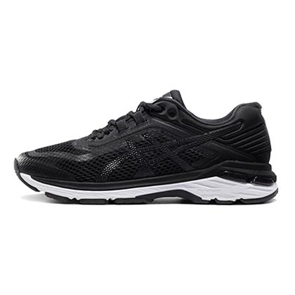 亚瑟士ASICS GT2000 6跑步鞋女款稳定慢跑鞋T855N-9001 黑色/白色(稳定跑鞋,18年新品尝鲜)