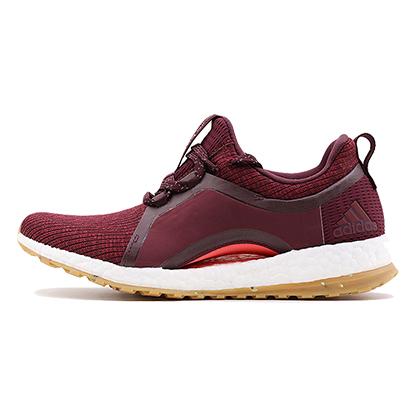 阿迪达斯Adidas跑鞋pure boost X heat女款跑步鞋 BY2691 宝石红(拱形足弓,包裹贴合)