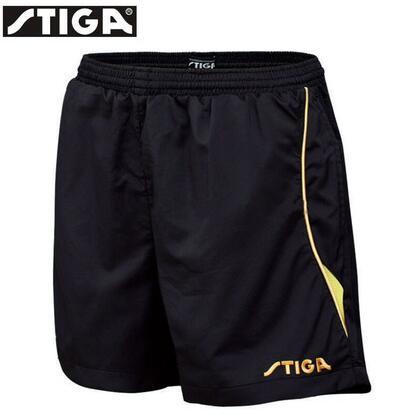 斯帝卡 G130213 黑黄色乒乓短裤