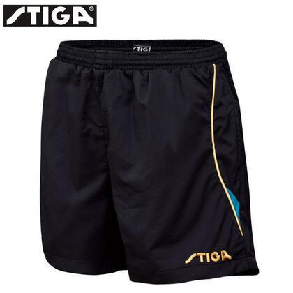 斯帝卡 G130217 黑蓝色乒乓球短裤