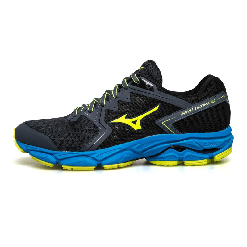 Mizuno美津浓 ULTIMA 10男子减震专业跑步鞋运动鞋男鞋J1GC180947 蓝灰/荧光黄/蓝
