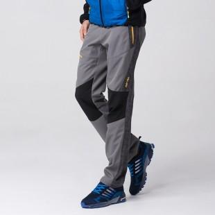 AIRTEX亚特 男款拼接加绒软壳裤 弹力面料,加绒内里,防风保暖,穿着舒适,拼接修身设计,时尚个性! 灰色