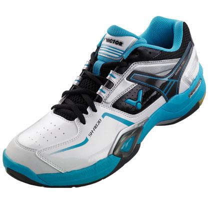 胜利VICTOR羽毛球鞋 SH-A820F 白/蓝(轻便透气防滑减震)