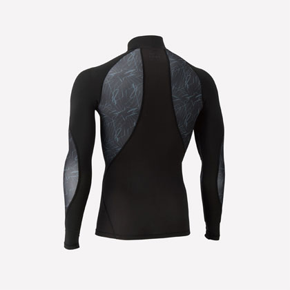 尤尼克斯YONEX 长袖紧身衣STBF1014CR 男款 黑/银(压力,吸汗,速干,骨盆收缩)