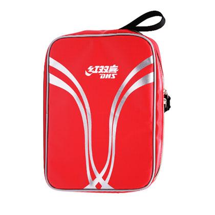 红双喜DHS乒乓球单拍套 RC530犀牛技术面料方形拍套 红色 新款上市!