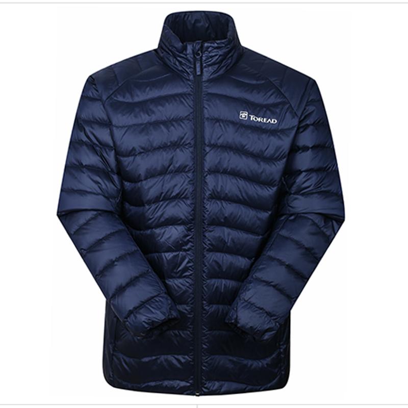TOREAD探路者男式超轻羽绒服-铁蓝灰 HADF91085-C27X(超轻保暖,防泼耐洗)