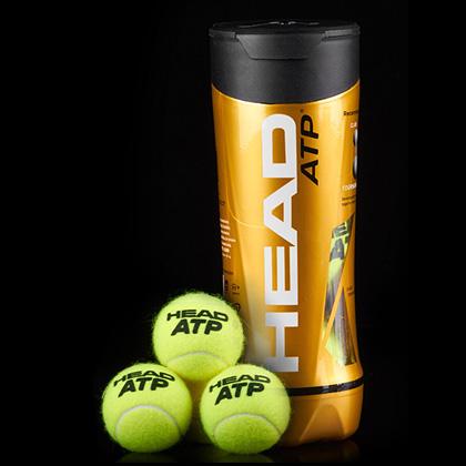 HEAD海德ATP大師賽官方用球金裝版網球(海德黃金球)(3只鐵罐裝)