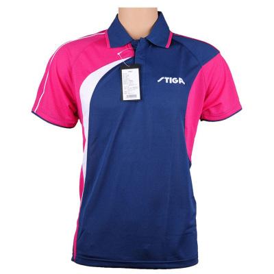 斯帝卡 CA-35191 乒乓球服 藏青色/玫红色