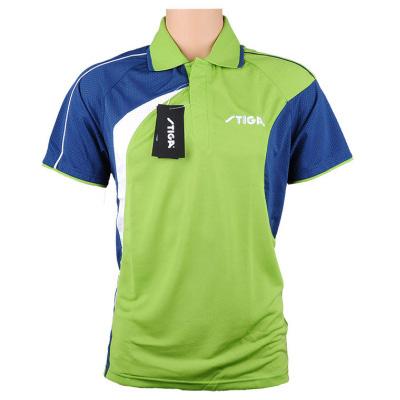 斯帝卡 CA-35151 乒乓球服 深蓝/绿色 男女同款,吸湿排汗的功能面料