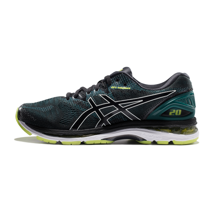ASICS亚瑟士GEL-NIMBUS 20跑鞋男缓冲跑步鞋运动鞋马拉松 T800N 黑/黄