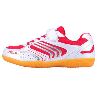 STIGA斯帝卡 儿童乒乓球鞋 白红色 男女通用 舒适透气安全 价格实惠  CS-3341