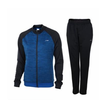 李寧 羽毛球長袖套裝 AWEN006-1 女款 丹寧藍 防風保暖 運動方便