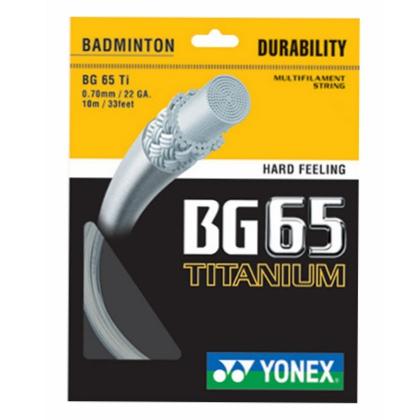 YONEX尤尼克斯 BG65Ti羽毛球线,弹性非常不错的羽线