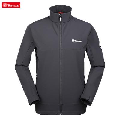 探路者 男式越野软壳外套 HAEF91021-G28X 炭灰(立体剪裁,保暖耐磨)防风、透气、保暖