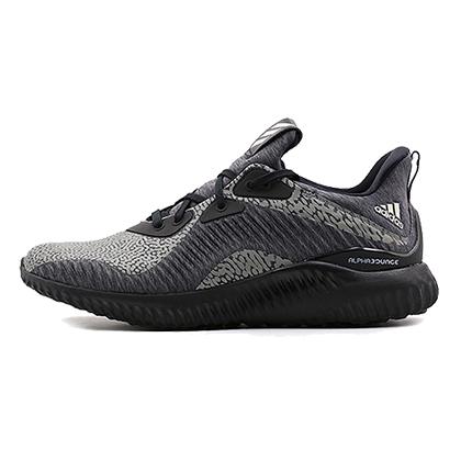 阿迪达斯Adidas阿尔法小椰子跑鞋alphabounce hpc ams男款跑步鞋 灰/黑(夜跑?反光,缓震舒适)