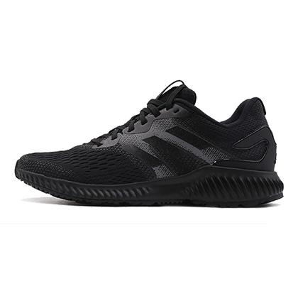 阿迪达斯Adidas小椰子跑鞋 aerobounce m男款跑步鞋 黑/灰(前掌加宽,舒适缓震)