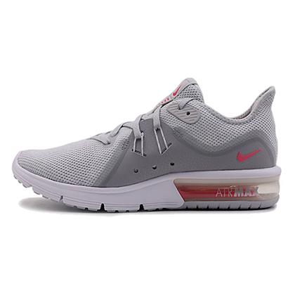 耐克NIKE 跑步鞋 AIR MAX SEQUENT3 女款气垫跑步鞋 908993-012 银灰(气垫缓震,轻松畅跑)