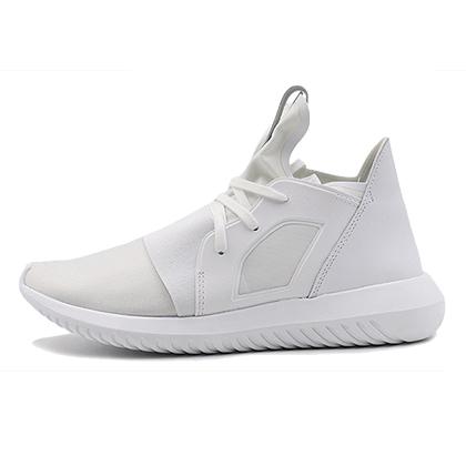 阿迪达斯Adidas三叶草小椰子女款跑步鞋 Tubular defiant w 亮白(经典时尚,软弹轻薄)