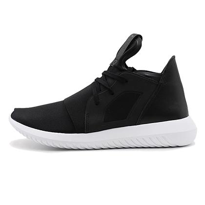 阿迪达斯Adidas三叶草小椰子跑鞋 Tubular defiant w女款跑步鞋 1号黑色/亮白(经典时尚,软弹轻薄)