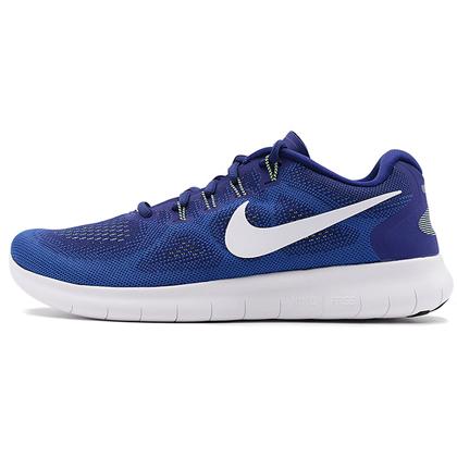 耐克NIKE赤足5.0跑步鞋 FREE RN 2017男款跑步鞋 880839-401 深宝蓝/白(飞线科技,回弹缓震)
