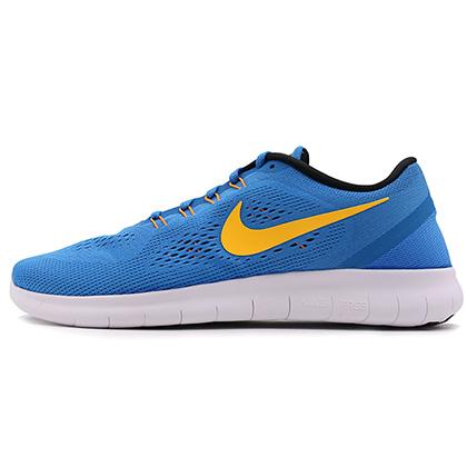 耐克NIKE赤足5.0跑步鞋 FREE RN男款跑步鞋 831508-402 蓝色/白色(飞线科技,回弹缓震)