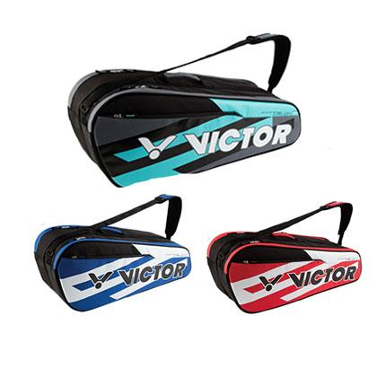 VICTOR胜利 羽毛球包 BR6210 手提单肩背拍包 6支装