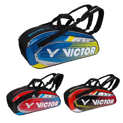 胜利VICTOR羽毛球包 BR9207 6支装 手提包双肩包