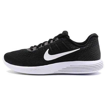 耐克NIKE 跑步鞋 LUNARGLIDE 8登月8男款缓震跑鞋843725-001 黑/白/煤黑(缓震当道,蓄力回弹)