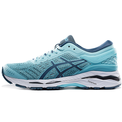 ASICS 亚瑟士 GEL-KAYANO 24 稳定慢跑鞋 k24 女 蓝色/烟蓝(跑鞋之王,缓震支撑)