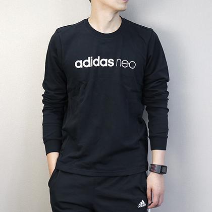 Adidas 阿迪达斯 男款运动卫衣 长袖跑步上衣 CD3166 黑色(针织面料,宽松舒适)