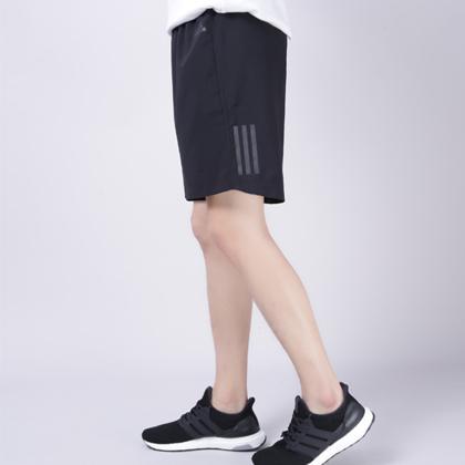 Adidas 阿迪达斯 男款运动短裤 五分裤 CF6257 黑色(速干透气,宽松舒适)