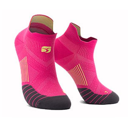 HappySport悦动 专业跑步袜 马拉松跑步袜 机能运动袜 玫红(抗菌抑臭防起泡)