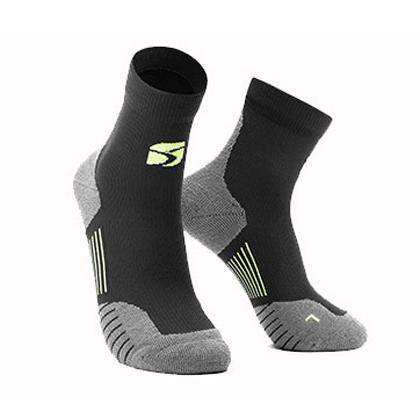 HappySport悦动 专业跑步袜 越野跑步袜 机能运动袜 黑色(抗菌抑臭防起泡)