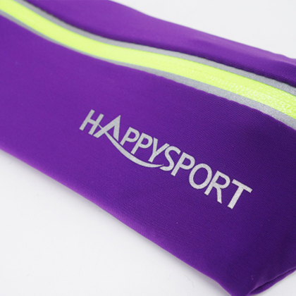 HappySport悦动 马拉松/越野跑步腰包 超轻弹力便携腰包 紫色(4个能量胶插槽,含号码簿挂扣)