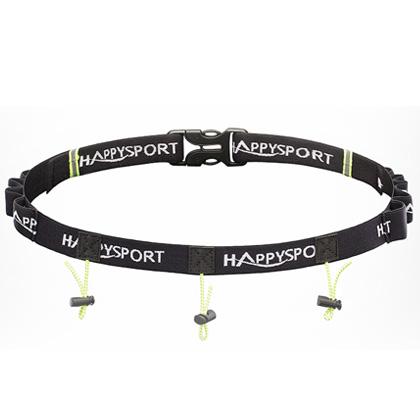 HappySport悦动 男女马拉松越野跑比赛号码布带 黑色(含8支能量胶插槽)