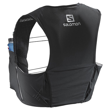 SALOMON萨洛蒙越野背包5L S-LAB SENSE ULTRA 5 SET 393815黑色(轻量贴合,排汗透气)