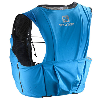 SALOMON萨洛蒙越野背包5L S-LAB SENSE ULTRA 5 SET 393816蓝色(轻量贴合,排汗透气)