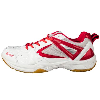 波力Bonny羽毛球鞋 樂活708 白紅色 (新款上市,護踝防扭)