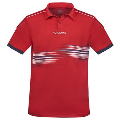 多尼克 DONIC 乒乓球短袖翻领83673-218红色新款