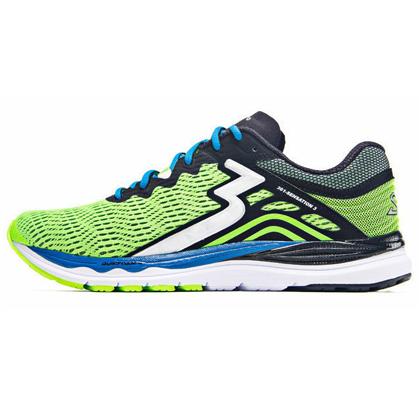 361°国际版跑步鞋 Sensation3代跑鞋 男款稳定缓震跑鞋 Y802 荧嫩绿/黑色(稳定支撑,轻量缓震)