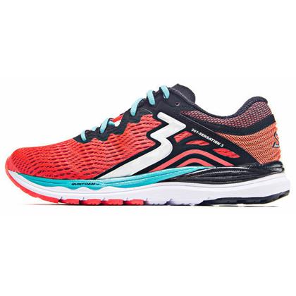 361°国际版跑步鞋 Sensation3代跑鞋 女款稳定缓震跑鞋 Y852-1 珊瑚红/黑色(稳定支撑,轻量缓震)