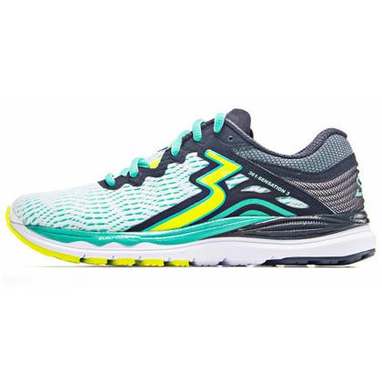 361°国际版跑步鞋 Sensation3代跑鞋 女款稳定缓震跑鞋 Y852-2 白色/灰色(稳定支撑,轻量缓震)