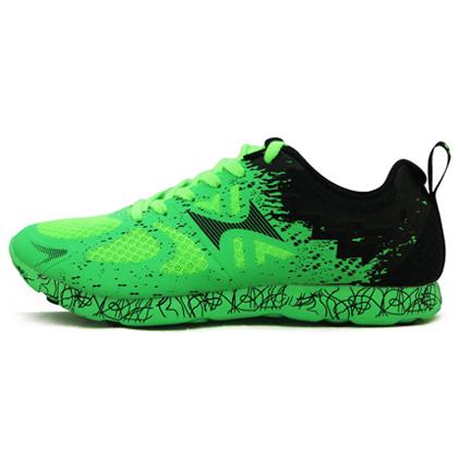 HEALTH海尔斯 马拉松跑鞋 体育比赛训练鞋 796 绿黑(高弹缓震,防滑耐磨)