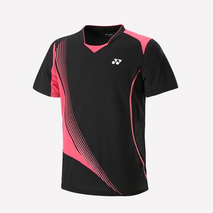 尤尼克斯YONEX短袖T恤 110597BCR-007 男款 黑色(团购推荐款,吸汗速干,抗静电)