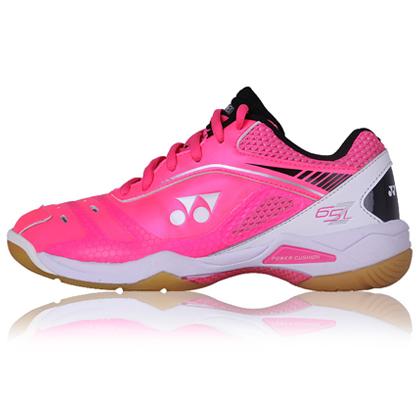 尤尼克斯YONEX羽毛球鞋 65Z一代女款专业羽鞋SHB-65ZLEX 白粉 众多冠军女选手的选择