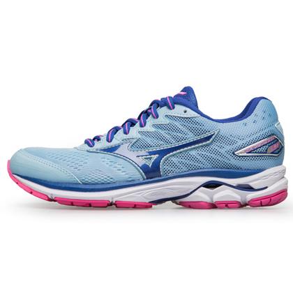 MIZUNO美津浓 WAVE RIDER 20 女款跑步鞋 J1GD170327 粉蓝/蓝/玫红(畅销缓震跑鞋)