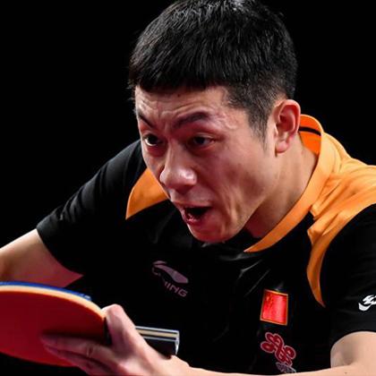 李宁新款国家队乒乓球服AAYN175-1男款短袖黑橘色